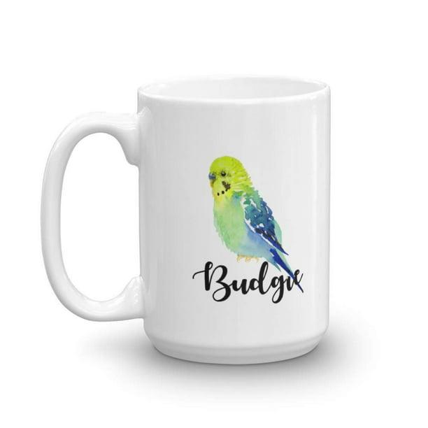 Cute Parakeet Budgie Painting Print Coffee Tea Gift Mug Cup Accessories Supplies Things Merchandise And Novelty Gifts For Bird Lover Men Women 15oz Walmart Com Walmart Com