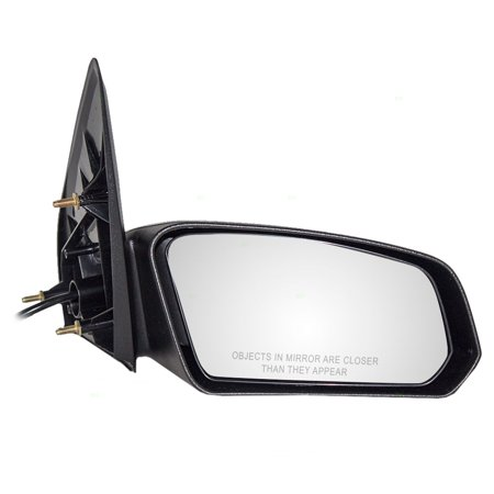 BROCK Power Side View Mirror Textured Passenger Replacement for 03-07 Saturn Ion Sedan 22726679 ()