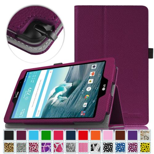 Fintie LG G Pad F 8.0 Plus Model AK815 8.3 Inch Tablet Folio Case - Premium PU Leather Cover with Stylus Holder, Purple