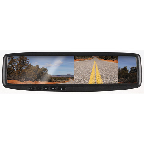 BOSS Audio BV430RVM Rear View Car Mirror With 4.3 Inch Built in Monitor and Rear View Camera