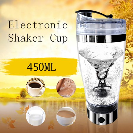 450ML Portable Automatic Protein Shaker Bottle Electric Vortex Mixer Drink Blender Cup USB Charge