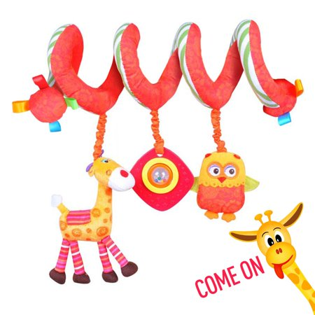 Labebe Car Seat Toy Hanging For Baby With Yellow Giraffe Owl