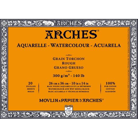 Arches Watercolor Block Paper - Rough - 140 lb - 10 x 14 inches