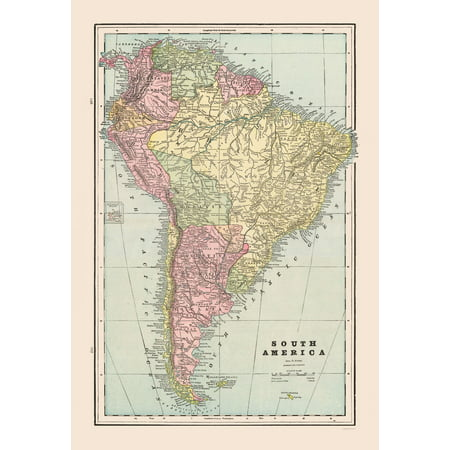 Map Of America Kansas.International Map South America Cram 1892 23 X 33 58
