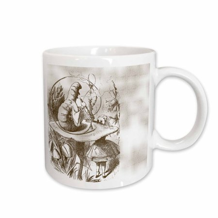 3dRose Caterpillar on Mushroom Vintage Alice in Wonderland, Ceramic Mug, 15-ounce](Caterpillar Mushroom Alice-in-wonderland)