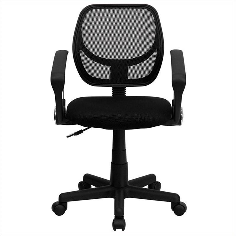 flash furniture mid back black mesh office chair