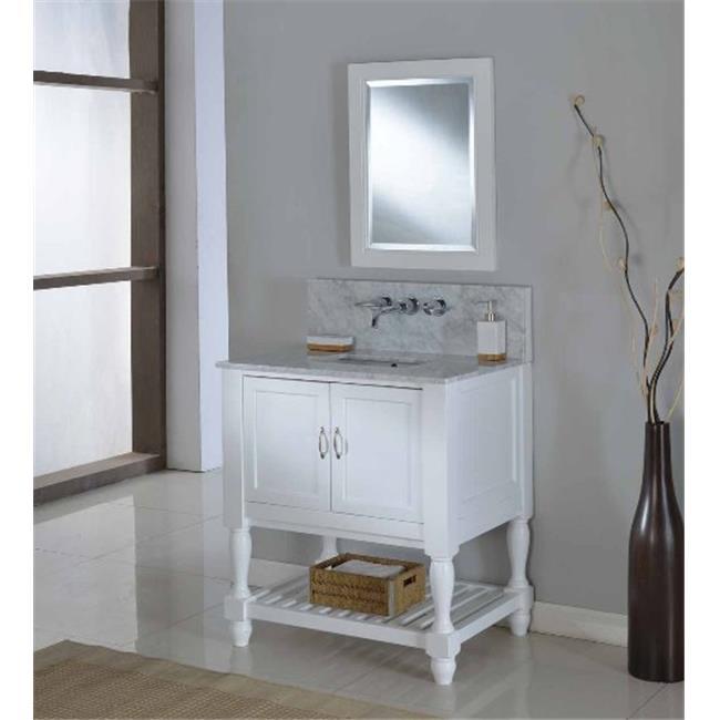 J And J International 32s10 Wwc Wm 32 In Pearl White Mission Turnleg Spa Premium Single Vanity Sink Walmart Com Walmart Com