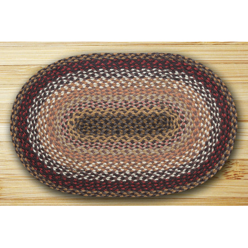 Earth Rugs Oval Braided Brick/Clay Area Rug