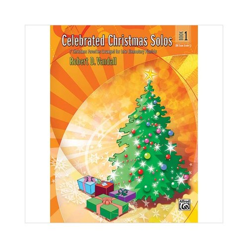 Alfred 00-26141 Celebrated Christmas Solos- Book 1 - Music Book