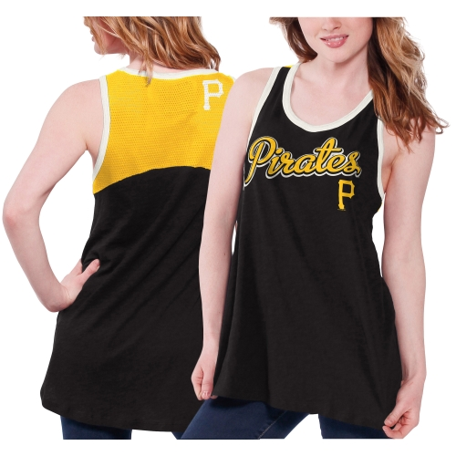 Pittsburgh Pirates Women's Circus Catch Loose Fit Tank Top - Black