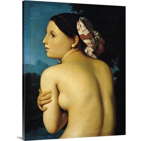 Great BIG Canvas Jean Auguste (1780-1867) Ingres Premium Thick-Wrap Canvas entitled Female nude, 1807 (oil on canvas)