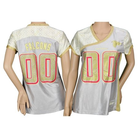 Reebok Atlanta Falcons  00 NFL Silver and Gold Alloy Women s Fashion Jersey d0cd91c0ec