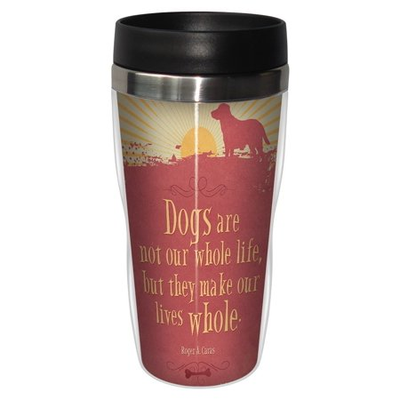 Tree Free Greetings 78177 Angi And Silas Life Whole Sip N Go Stainless Lined Travel Mug  16 Ounce
