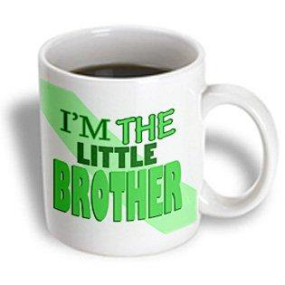 Little Brother Green Car - 3dRose Im the Little Brother Green, Ceramic Mug, 11-ounce