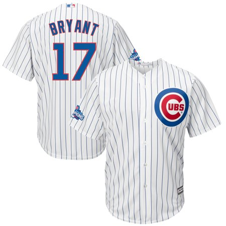 Kris Bryant Chicago Cubs Majestic Home 2016 World Series Champions Team Logo Patch Player Jersey - White