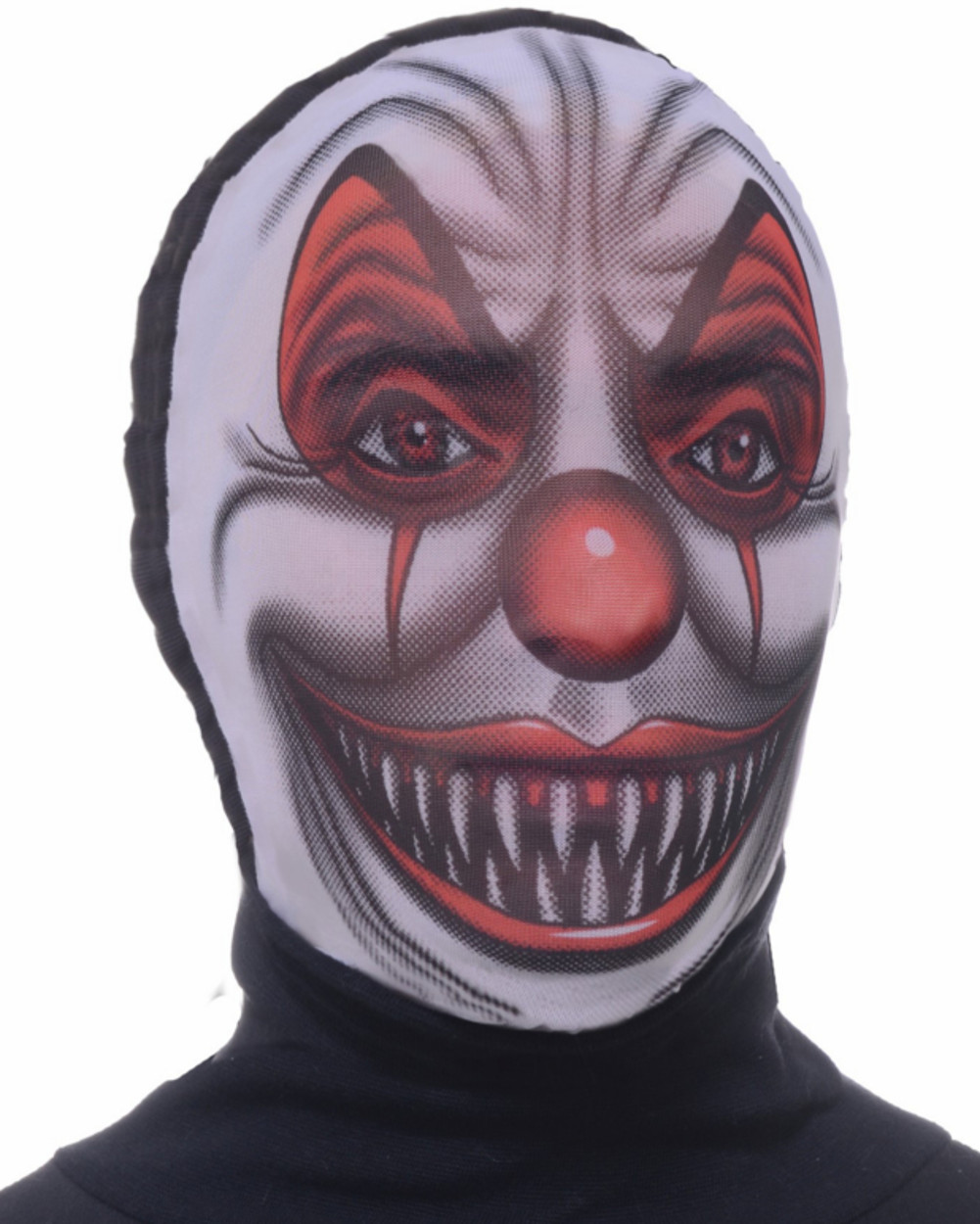 Adult Scary Evil Clown Costume Accessory Nylon Fabric Costume Mask ...