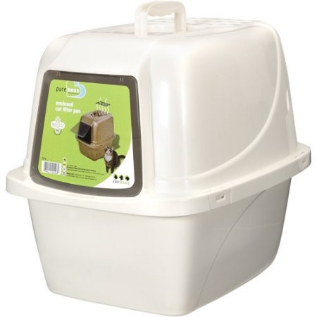 Van Ness Products Enclosed Cat Litter Pan Large Walmart Com