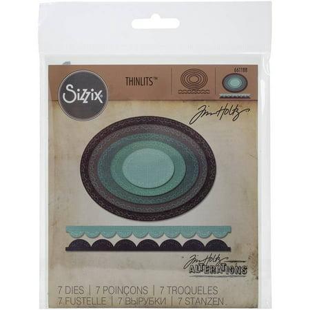 Sizzix Thinlits Dies 7/Pkg By Tim Holtz-Stitched Ovals - image 2 of 2