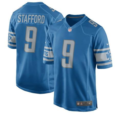 Detroit Lions Autographed Blue Jersey - Matthew Stafford Detroit Lions Nike 2017 Game Jersey - Blue