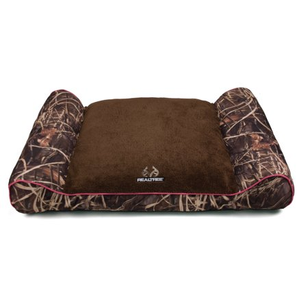 Dallas Manufacturing Company Realtree Giant Camo Pet Bed With Bolstered Ends