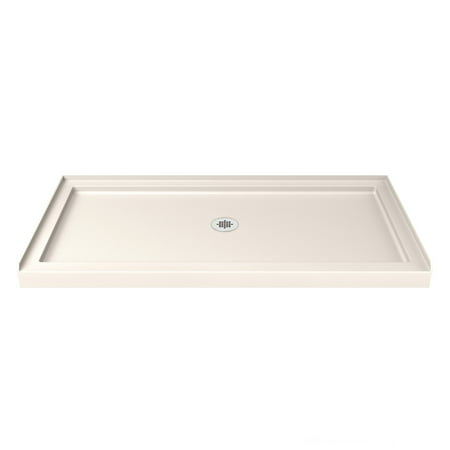 DreamLine SlimLine 36 in. D x 54 in. W x 2 3/4 in. H Center Drain Single Threshold Shower Base in (Single Threshold Rectangular Shower Base)