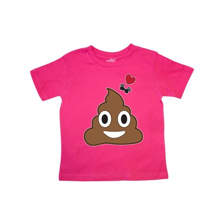 Valentine's Day Love Poop Emoji and Flies Toddler - Valentine T Shirts For Toddlers
