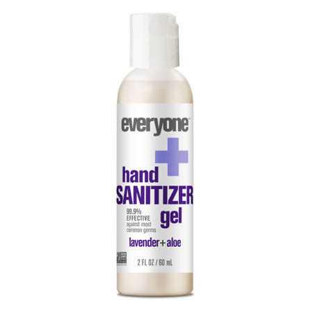 Everyone Lavender Aloe Hand Sanitizer Gel Antibacterial 2 Oz