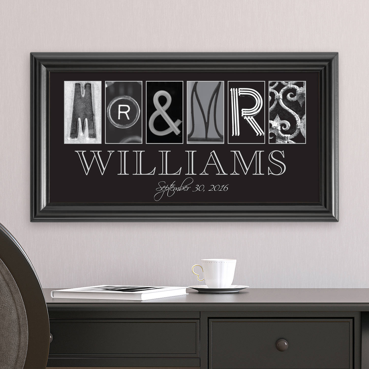 Personalized Mr. and Mrs. Architectural Photo Print
