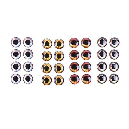 Waterproof 4D Fishing Lure Eyes Tackle Accessories 7mm Pack of 20pcs Wind Color:wind