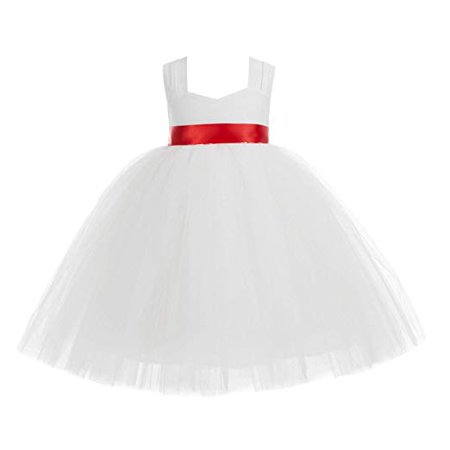 Ekidsbridal Ivory Sweetheart Neck Cotton Top Tutu Flower Girl Dress Evening Gown Birthday Girl Dress Ballroom Gown Communion Dress Pageant Gown Baptism Dress Bridal Gown Easter Summer Dresses 171R - Cotton Flower Girl Dresses