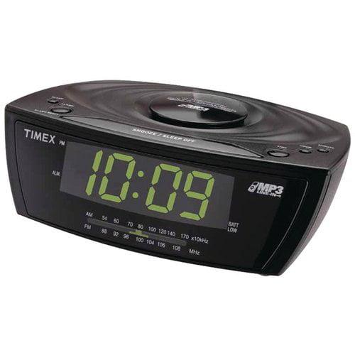 TIMEX T227BQ3 Large Display Alarm Clock Radio