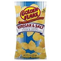 Golden Flake Vinegar & Salt Thin & Crispy Potato Chips, 5 Oz.