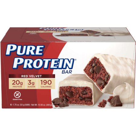 Pure Protein Bar, Red Velvet, 20g Protein, 6 Ct
