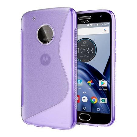 new arrival bf3e3 22037 Moto G5 Plus Case, Cimo [Wave] Premium Slim Protective Cover for Motorola  Moto G5 Plus (2017) - Purple