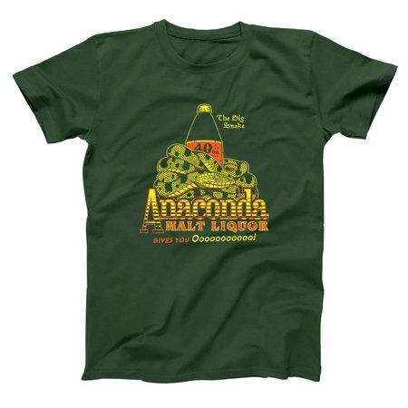 Anaconda Malt Liquor Small Forest Green Basic Men's T-Shirt Collection Forest Green T-shirt