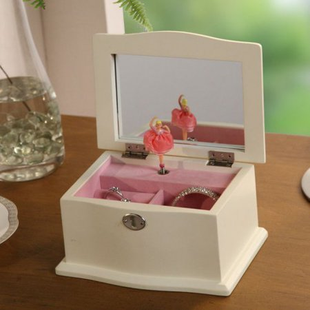 chic musical dancing ballerina jewelry box 7w x in