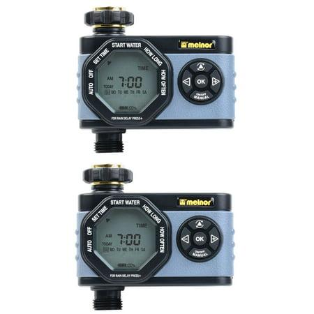 Melnor HydroLogic Digital Programmable Garden Water Timer & Controller (2 Pack)
