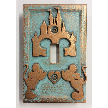 Disney Castle (Mickey & Minnie) - Light Switch Cover Light Switch Cover Stone