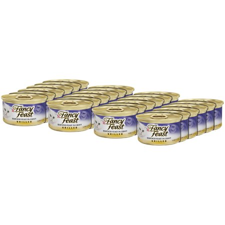 Mix Grill - Purina Fancy Feast Grilled Seafood Feast in Gravy Wet Cat Food 3 oz. Cans (24 Pack)