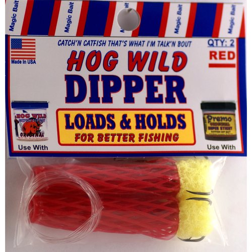Hog Wild Dip Worm Bait Holder, Red