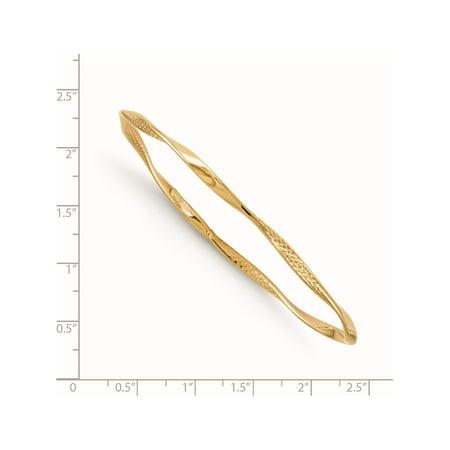 14K poli et textur? de jaune d'or Leslie Twisted Slip-on Bracelet - image 1 de 2