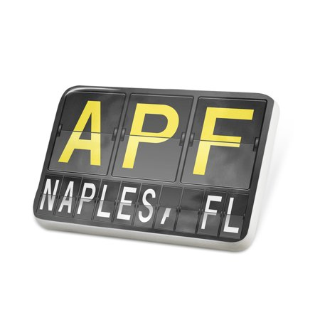 Porcelein Pin APF Airport Code for Naples, FL Lapel Badge – NEONBLOND