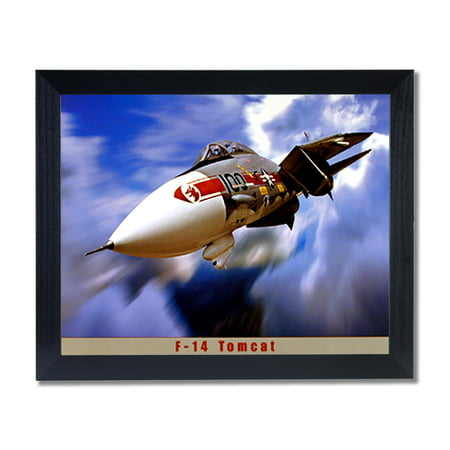 F-14 Tomcat Jet Airplane Wall Picture Black Framed Art Print ...