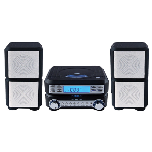 Sylvania SRCD635-BLACK Compact HI-FI CD Player Micro System with Stereo AM/FM Radio Black - Refurbished