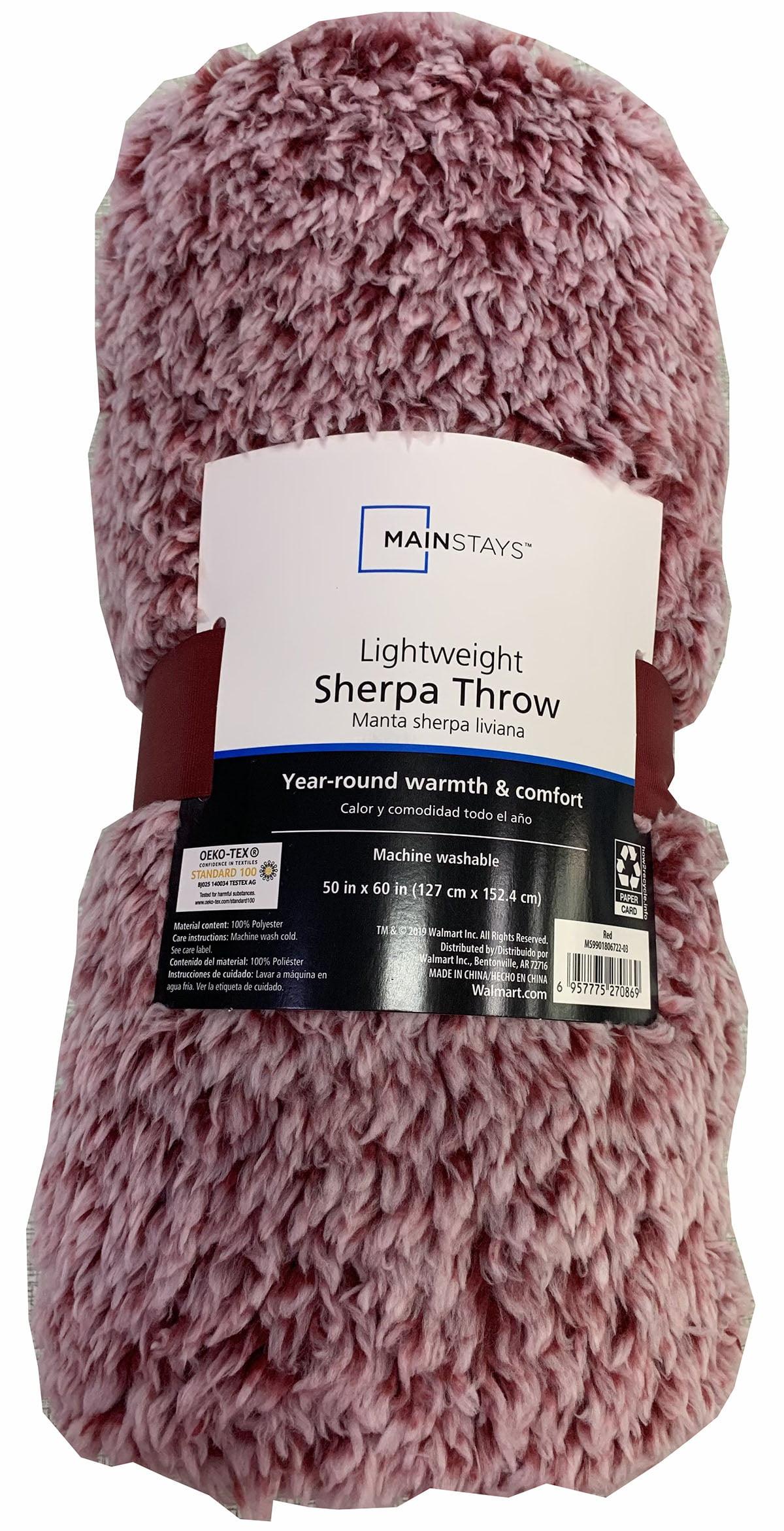 Mainstays Extra Plush Lightweight Sherpa Throw Blanket 50 X 60 Gray Walmart Com Walmart Com