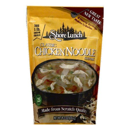 Shore Lunch Classic Chicken Noodle Soup Mix, 9.2 OZ (Pack of 6)