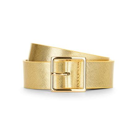 Denim Metallic Belt (Time & Tru Women's Gold Metallic)