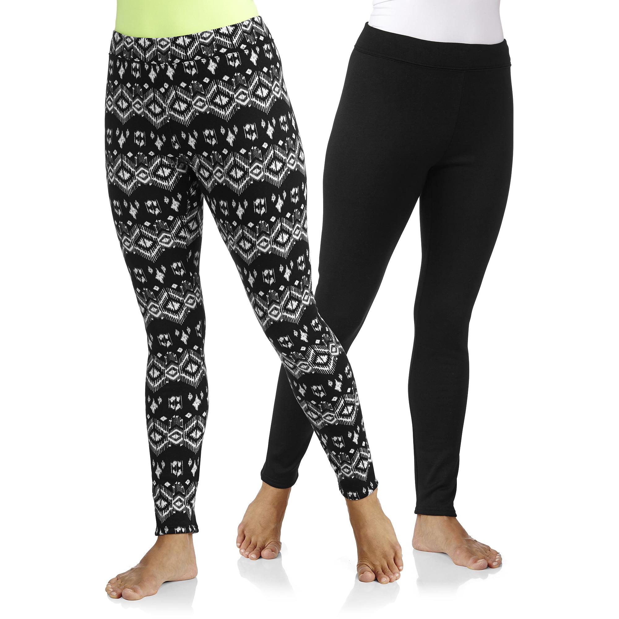 a0519820be77c6 Concepts - Women's Cozy Fleeced Lined Legging 2-Pack - Walmart.com