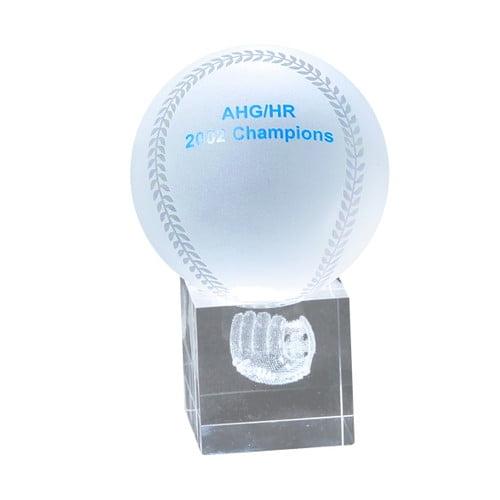 Chass Baseball and Mitt 3D Laser Sport Award by Chass