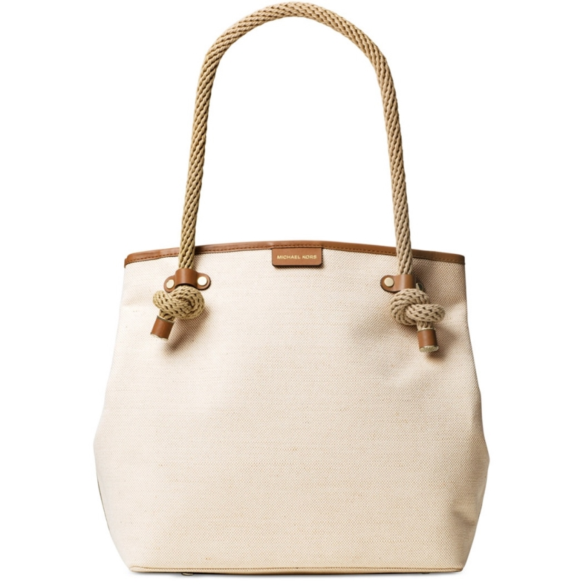 Michael Kors Maritime Natural Large Beach Tote Bag